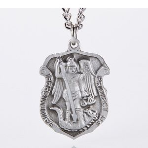 Stainless steel Saint Michael necklace/pendant